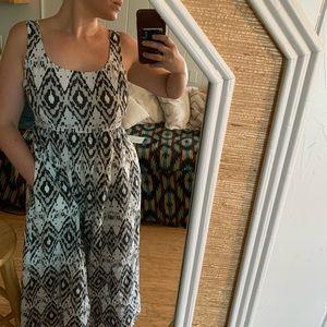 Vintage April Cornell Cotton Patterned Maxi Dress